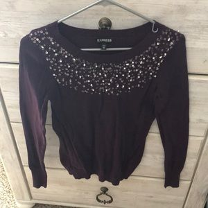 Express Beaded Sweater